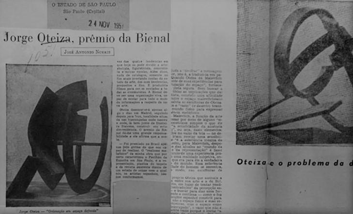 Jorge Oteiza en Sao Paulo. 60 años de su triunfo en la Bienal