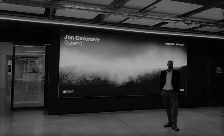 Visita guiada a la exposición `Galerna´ por Jon Cazenave
