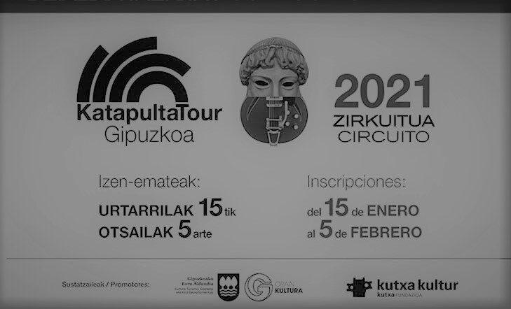Katapulta Tour Gipuzkoa. Zirkuitua 2021 | Deialdia irekita