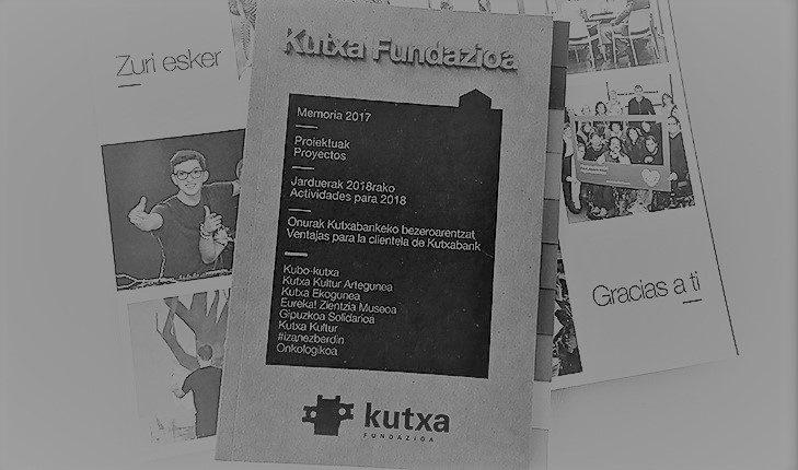 Publicada la Memoria de actividades 2017 de Kutxa