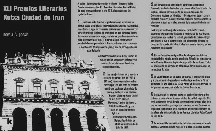 Premios Literarios Kutxa Ciudad de Irun
